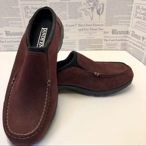 Lands End Suede Wine Mules Size 8